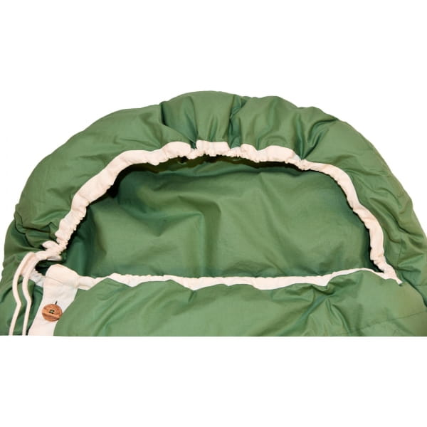 Grüezi Bag Biopod DownWool Nature Comfort  - Daunen- & Wollschlafsack basil green - Bild 5