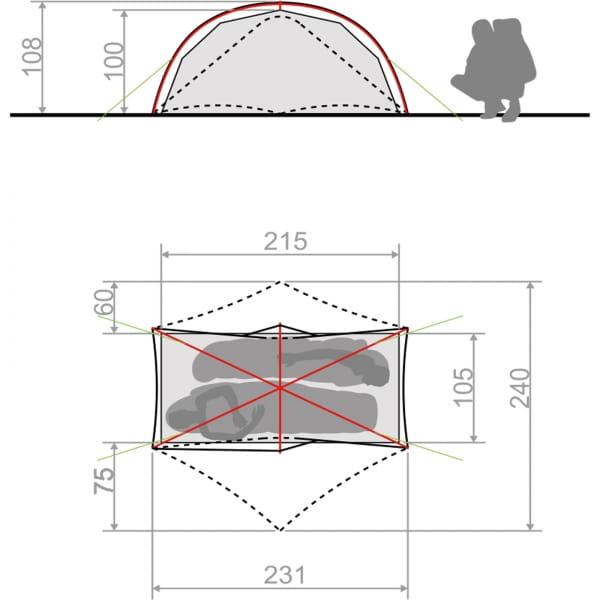 VAUDE Space Seamless 1-2P - Zelt cress green - Bild 5
