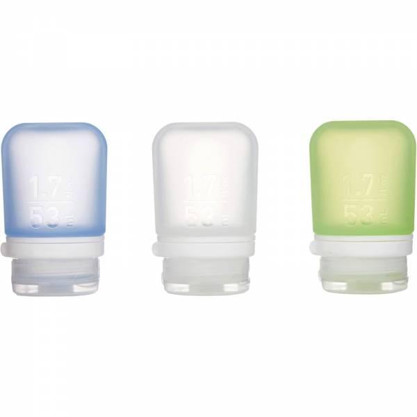 humangear GoToob 3er Pack - 3 x 53 ml Tube transparent-grün-blau - Bild 1