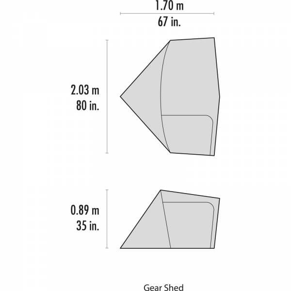 MSR Gear Shed V2 - Vorzelt - Bild 6
