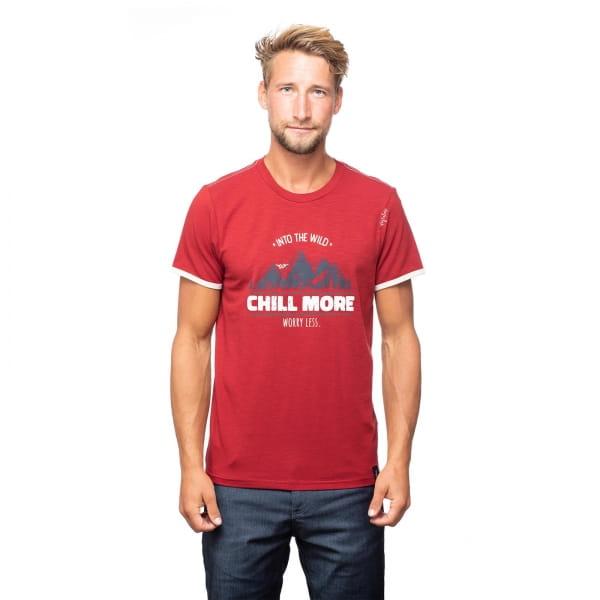 Chillaz Men's Retro Worry Less - T-Shirt dark red - Bild 9