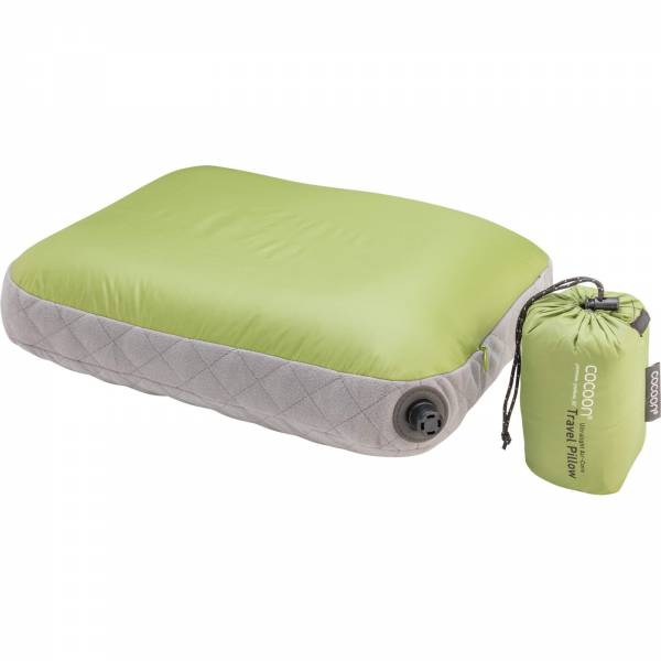 COCOON Air-Core Pillow Ultralight Small - Reise-Kopfkissen wasabi-grey - Bild 3