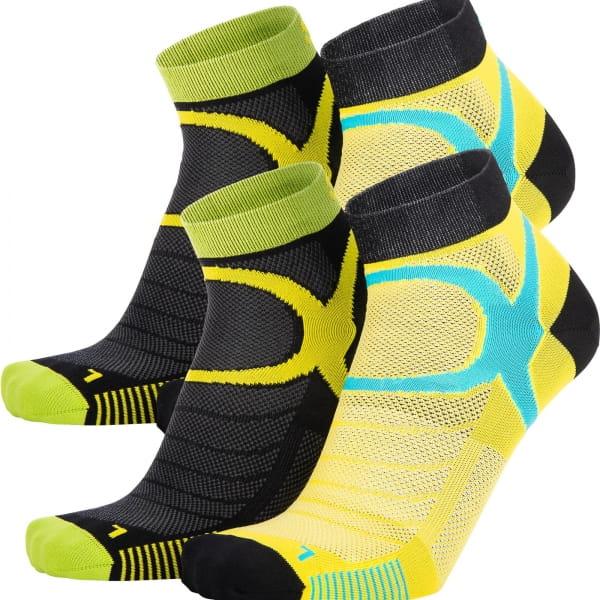 EIGHTSOX Color 3 - Sport-Socken black-yellow - Bild 1