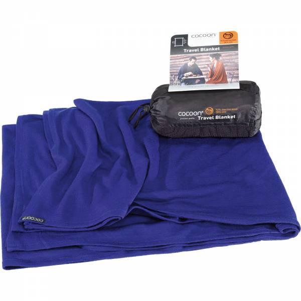 COCOON Merino Wool-Sillk TravelBlanket - Decke sapphire - Bild 1