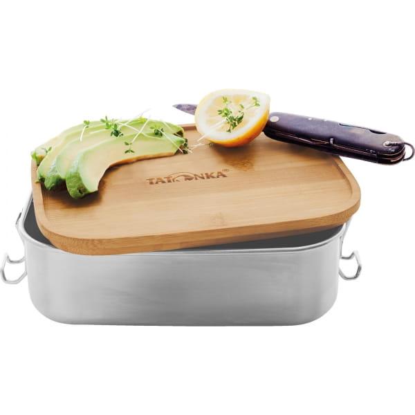 Tatonka Lunch Box I Bamboo 1000 ml - Edelstahl-Proviantdose stainless - Bild 4