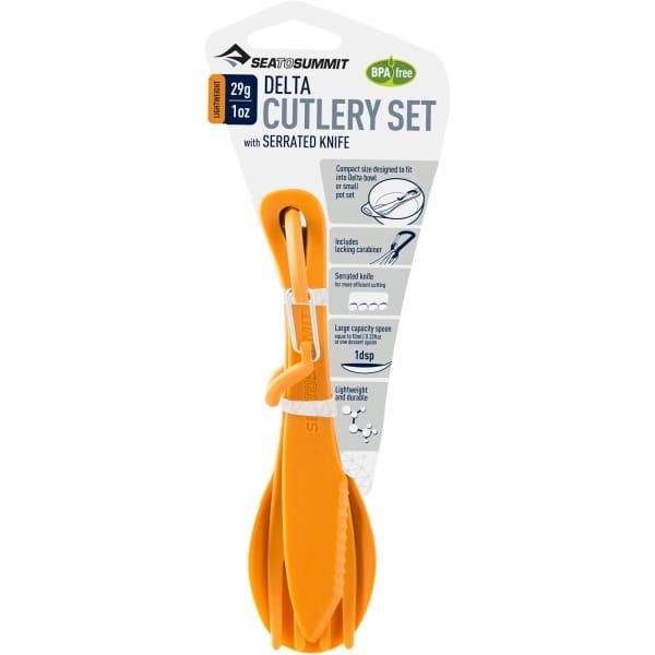 Sea to Summit Delta Cutlery Set - Besteckset orange - Bild 3
