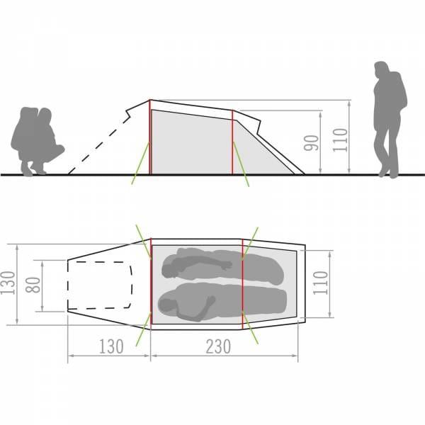 VAUDE Arco 2P - Zwei-Personen-Tunnelzelt - Bild 10