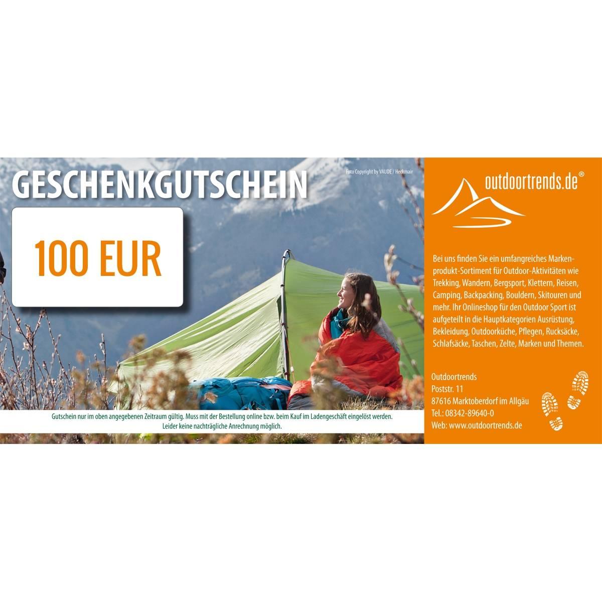 outdoortrends Geschenkgutschein - 100 EUR - Bild 1