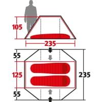 Vorschau: Wechsel Pioneer Zero-G - 2-Personen-Zelt green - Bild 3