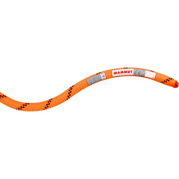 Mammut 8.7 Alpine Sender Dry Rope - Dreifachseil safety orange-black - Bild 4