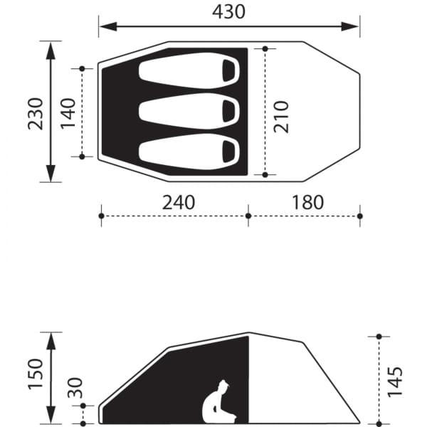 NOMAD Dogon 3 Compact Air - 3-Personen-Zelt twill - Bild 6