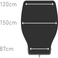 Vorschau: Sea to Summit Glow GwI Regular - Kunstfaser-Decke dark sapphire-grey - Bild 9