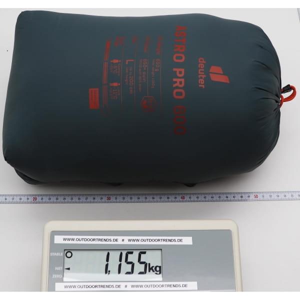 deuter Astro Pro 600 - Daunen-Schlafsack teal-paprika - Bild 8