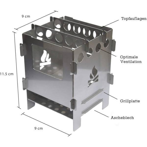 bushcraft essentials Bushbox Set - HOBO-Kocher - Bild 3