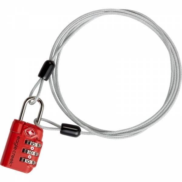 Eagle Creek 3-Dial TSA Lock® & Cable - Schloss flame orange - Bild 2