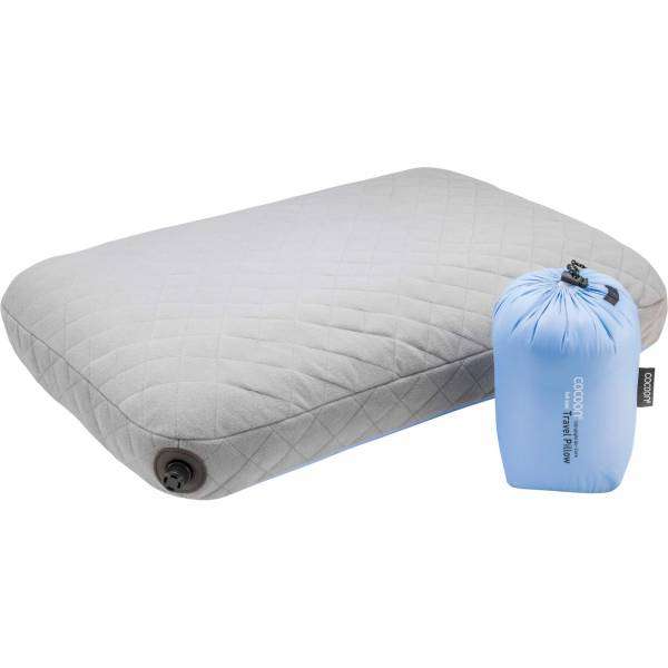 COCOON Air-Core Pillow Ultralight Large - Reise-Kopfkissen light blue-grey - Bild 2