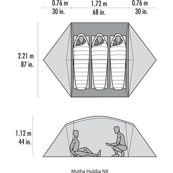 MSR Mutha Hubba NX - 3 Personen Zelt - Bild 8