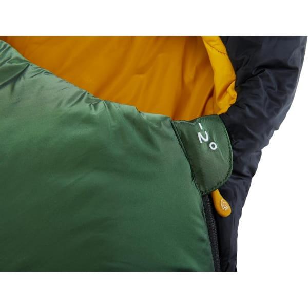 Nordisk Gormsson -2° Curve - 3-Jahreszeiten-Schlafsack artichoke green-mustard yellow-black - Bild 8