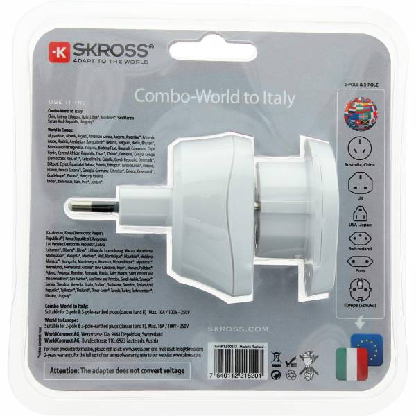 SKROSS Combo World to Italien - Steckeradapter - Bild 7