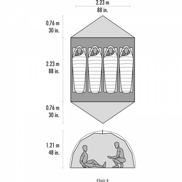 MSR Elixir 4 - Vier-Personen-Zelt - Bild 6