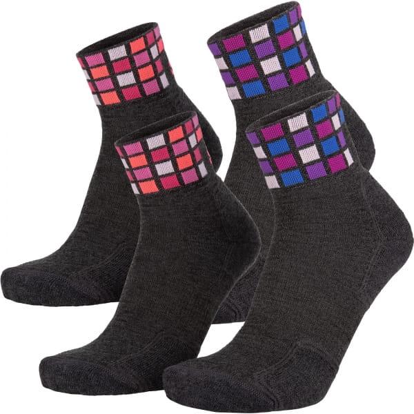 EIGHTSOX Color Mid Merino - Outdoor-Socken dark grey melange-pink - Bild 1