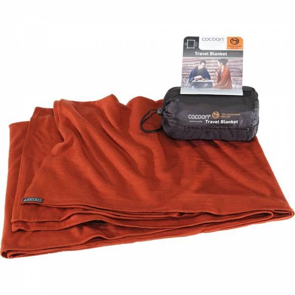 COCOON Merino Wool-Sillk TravelBlanket - Decke dark terracotta - Bild 2