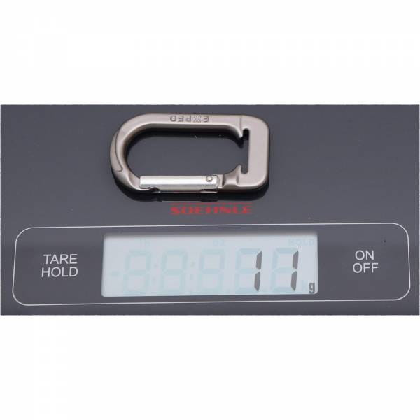 EXPED Pack Accessory Carabiner - Materialkarabiner grey - Bild 3