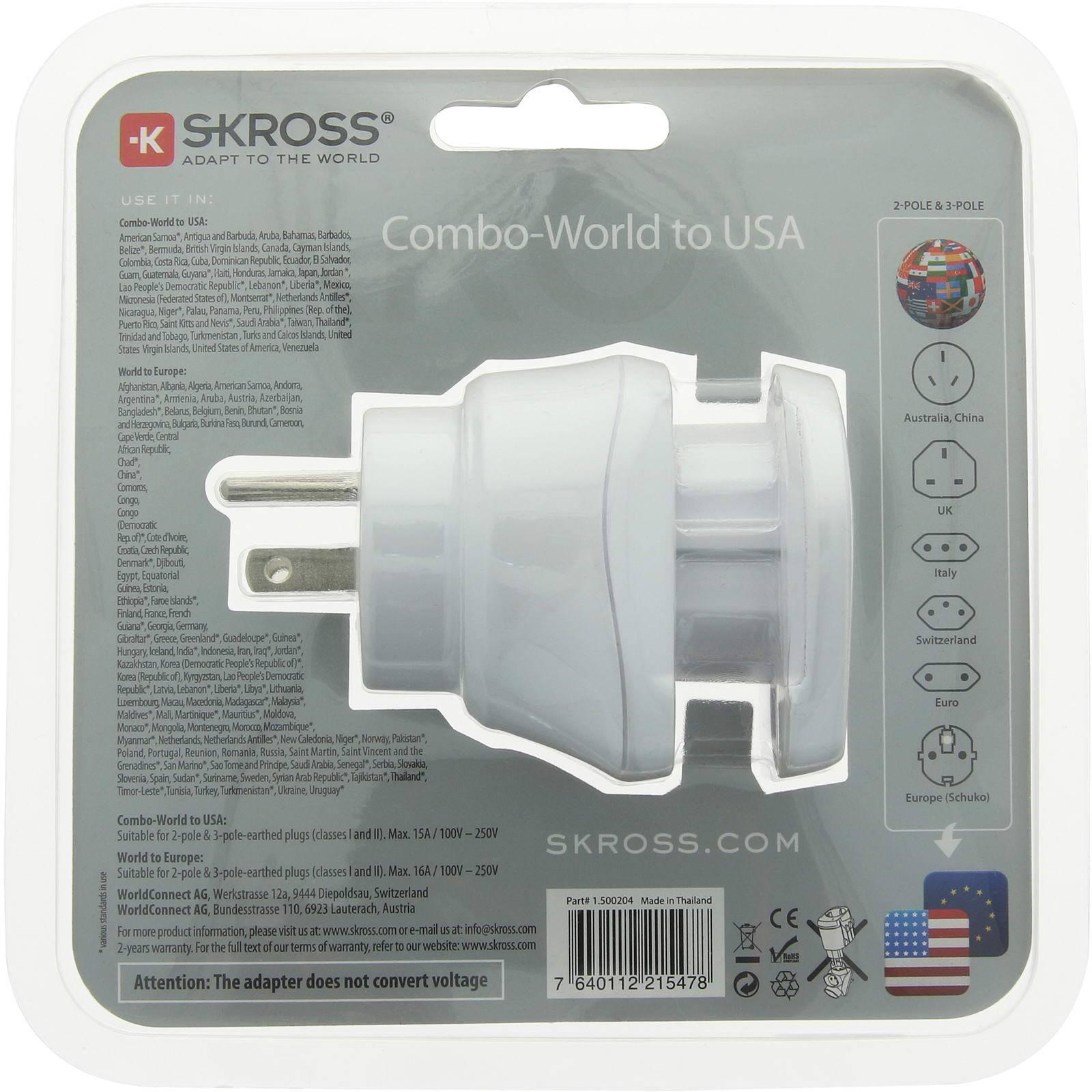 SKROSS Combo World to USA - Steckeradapter - Bild 7
