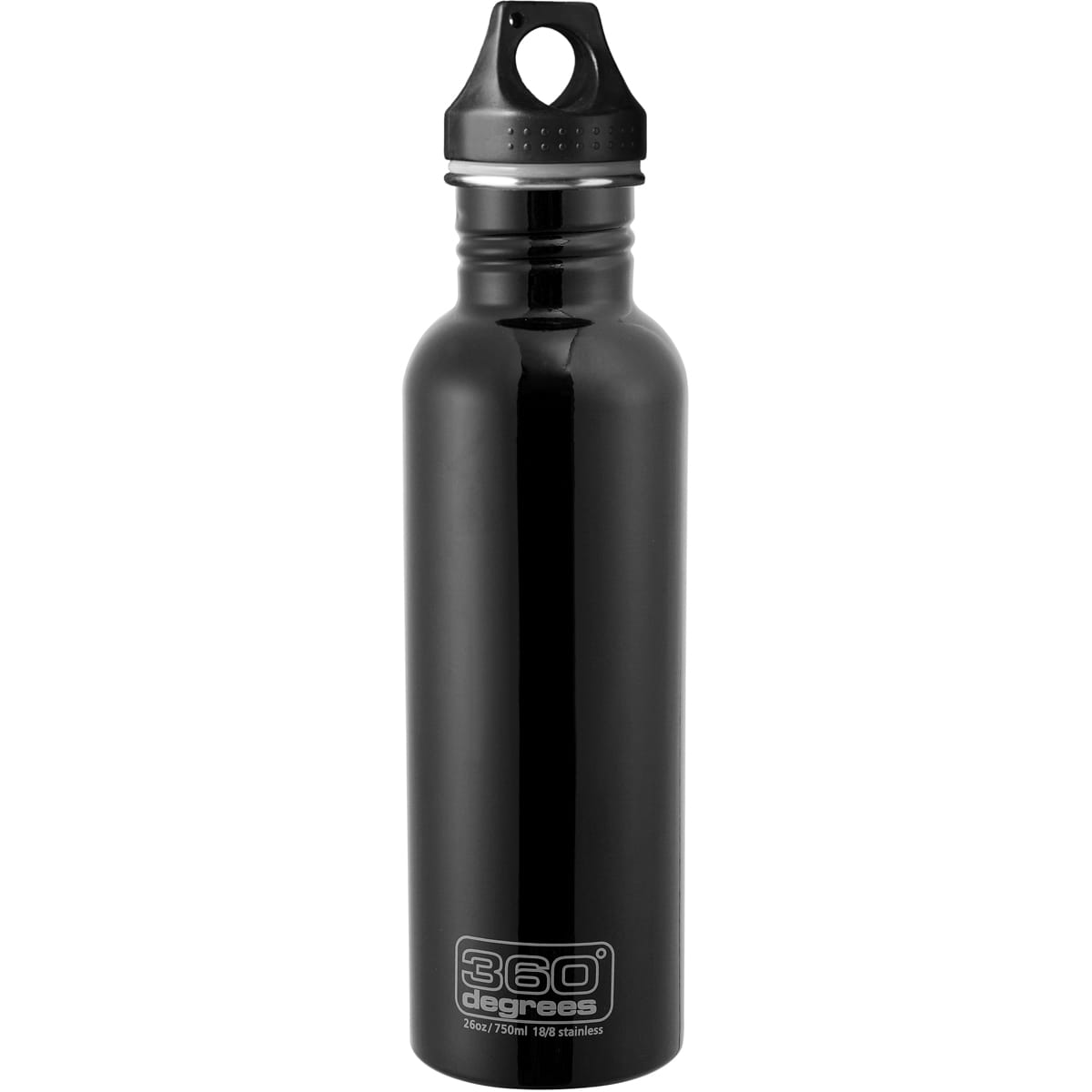 360° degrees Stainless Drink Bottle - 750 ml - Trinkflasche black