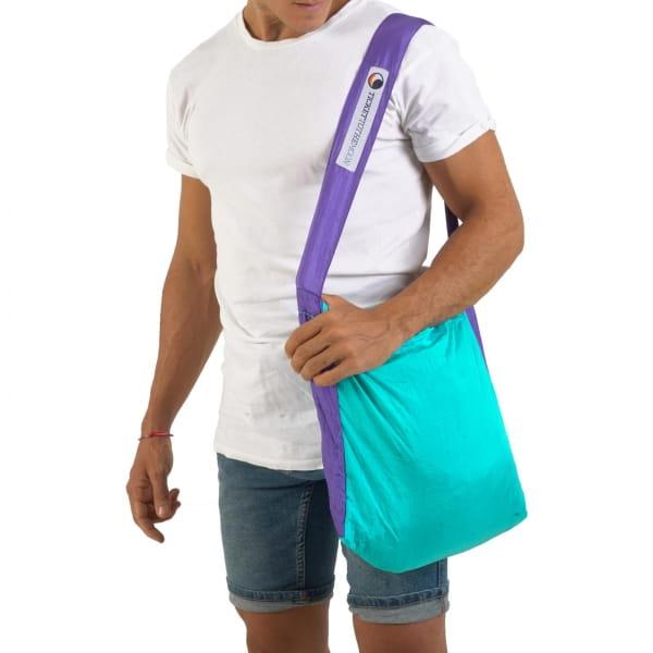 TICKET TO THE MOON Eco Bag S - Einkaufstasche turquoise-purple - Bild 4