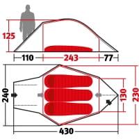 Vorschau: Wechsel Halos 3 Zero-G - 3-Personen-Geodät green - Bild 3