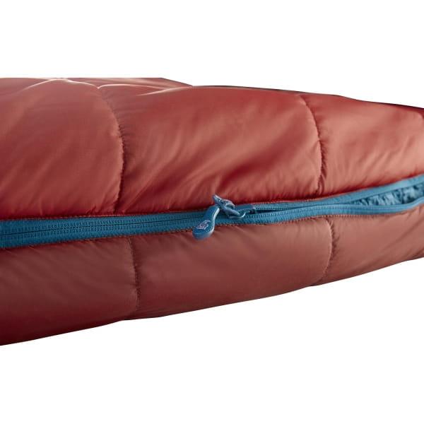 Nordisk Puk +10° Blanket - Sommerschlafsack sun dried tomato-majolica blue-syrah - Bild 9