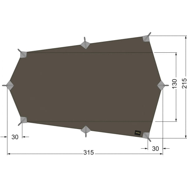 Tatonka Tarp Wing 2 LT stone-grey-olive - Bild 1