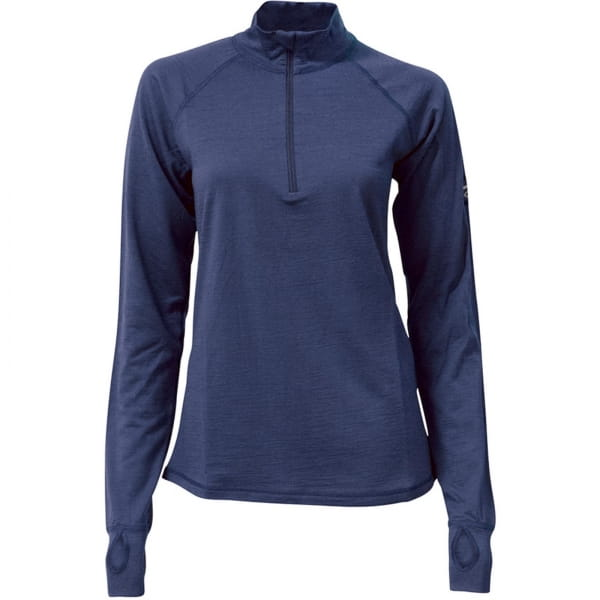 IVANHOE UW Blossom Woman - Langarmshirt mit Zip steelblue - Bild 3