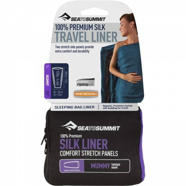 Sea to Summit Silk Stretch Liner Mummy Tapered - Inlet navy blue - Bild 1
