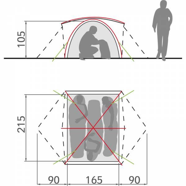 VAUDE Campo 3P - Drei-Personen-Zelt - Bild 7