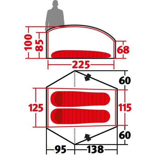 Wechsel Exogen 2 Zero-G - 2-Personen-Zelt green - Bild 3