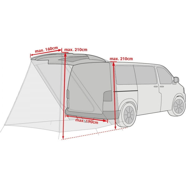 VAUDE Drive Van Trunk - Heckzelt linen - Bild 2