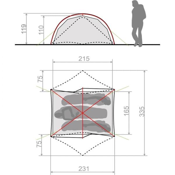 VAUDE Space Seamless 2-3P - Zelt cress green - Bild 4