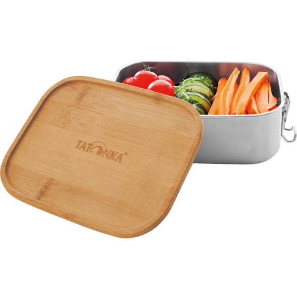 Tatonka Lunch Box I Bamboo 800 ml - Edelstahl-Proviantdose stainless - Bild 2