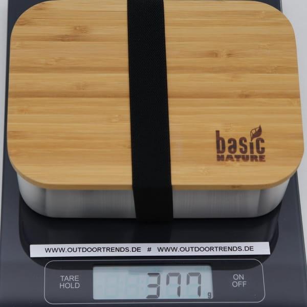 Basic Nature Bamboo Lunchbox 1,2 L - Edelstahl-Proviantdose stainless - Bild 2