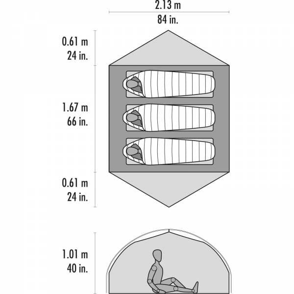 MSR Carbon Reflex™ 3 - Drei-Personen-Zelt - Bild 4