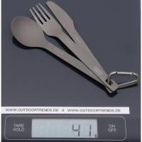 Vorschau: VARGO Titanium ULV Spoon, Fork & Knife - Besteckset - Bild 2