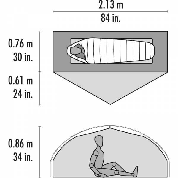 MSR Carbon Reflex 1 - 1 Personen Zelt - Bild 4